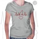 Cat Heartbeat Womens T-Shirt