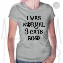 I Was Normal 3 Dogs Ago Womens T Shirt
