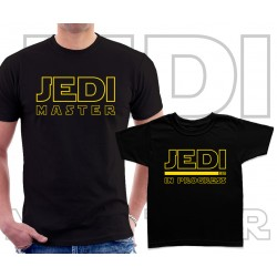 Jedi master and Jedi in progress Matching T-Shirts