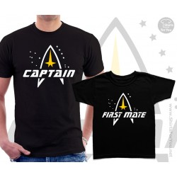 Star Trek Captain and First mate Matching T-Shirts
