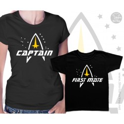 Star Trek Captain and First mate Matching T Shirts