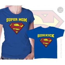 Superman Super Mom and Sidekick Matching T-Shirts