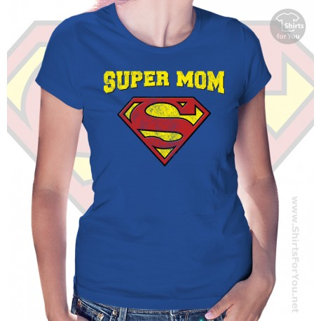 Superman Super Mom Womens T-Shirt