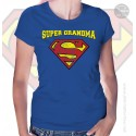 Superman Super Grandma Womens T-Shirt