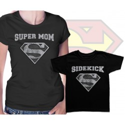 Superman Super Mom and Sidekick Matching T Shirts