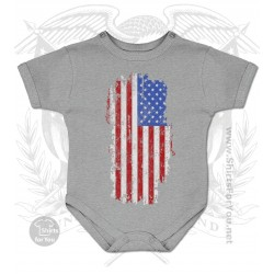 US Flag Baby Onesie