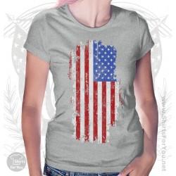 US Flag Womens T Shirt