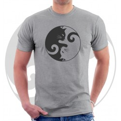 Yin Yang Black and White Cats Unisex T Shirt