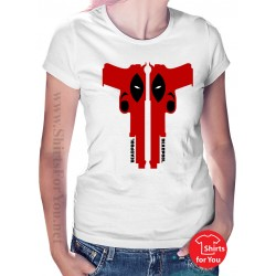 Deadpool Guns Womens T-Shirt