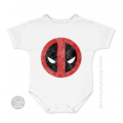 Deadpool Face Baby Onesie