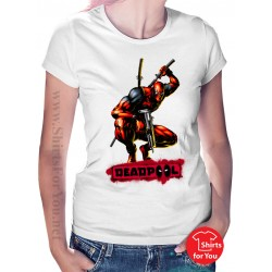 Deadpool Action Womens T-Shirt