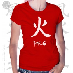 Fire Four Elements Womens T-Shirt