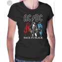AC DC Back in Black Womens T-Shirt