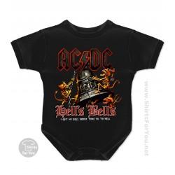 AC DC Hells Bells Baby Onesie