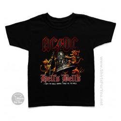 AC DC Hells Bells Kids T-Shirt