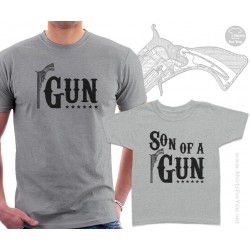 Gun and Son of a Gun Matching T-Shirts