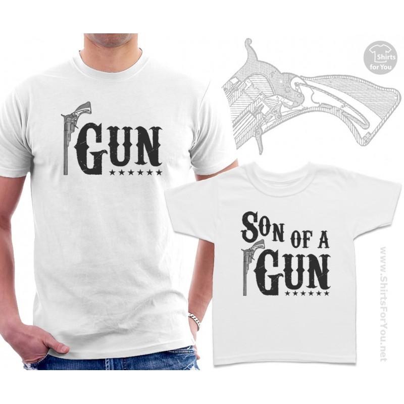Gun And Son Of A Gun Matching T Shirts