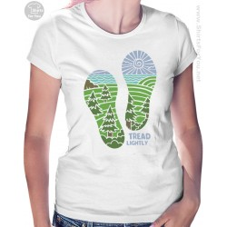 Tread Lightly Womens T-Shirt