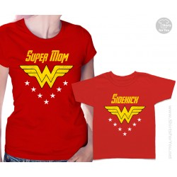 Wonder Woman and Sidekick Matching T-Shirts