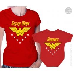 Wonder Woman and Sidekick Matching T-Shirt and Onesie