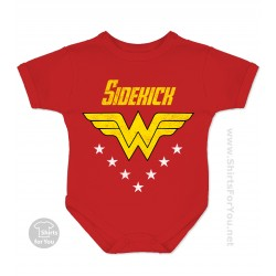Wonder Woman Sidekick Baby Onesie