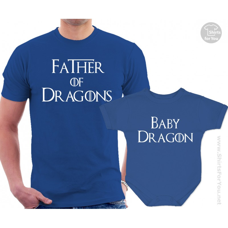 Father Of Dragons And Baby Dragon Matching T Shirt And Onesie