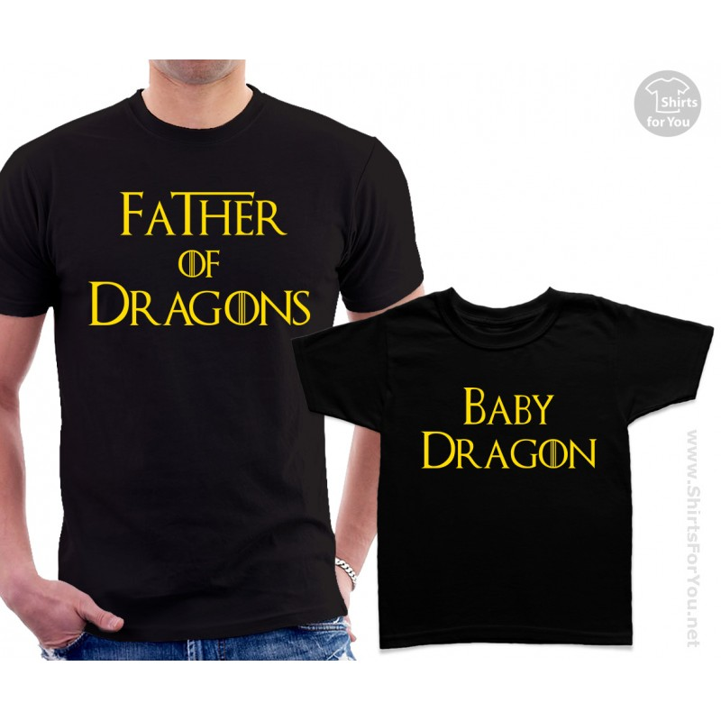 4dd73566 Father of Dragons and Son, Daughter or Baby Dragon Matching T-Shirts ...