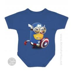 Captain America Minion Baby Onesie
