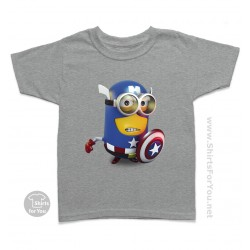 Captain America Minion Kids T-Shirt