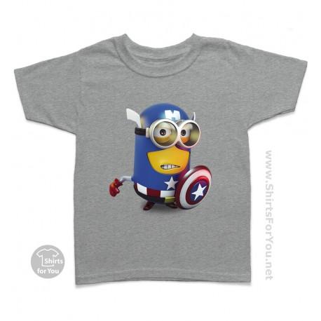 Captain America Minion Kids T-Shirt
