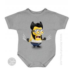 Wolverine Minion Baby Onesie