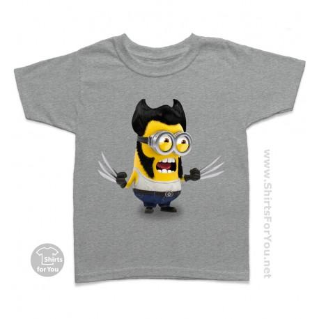 Wolverine Minion Kids T-Shirt