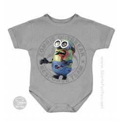 Minion Zombie Baby Onesie