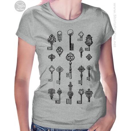 Vintage Keys Womens T-Shirt