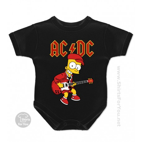 Bart Simpson AC DC Baby Onesie
