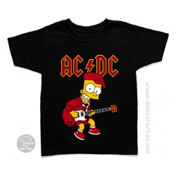 Bart Simpson AC DC Kids T-Shirt