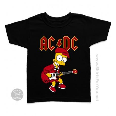 Bart Simpson AC DC Kids T-Shirt