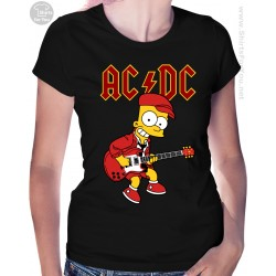 Bart Simpson AC DC Womens T-Shirt