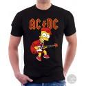 Bart Simpson AC DC Unisex T-Shirt