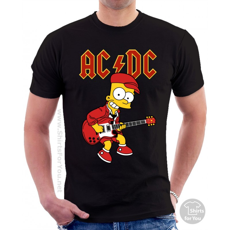 bart simpson ac dc t shirt. Black Bedroom Furniture Sets. Home Design Ideas
