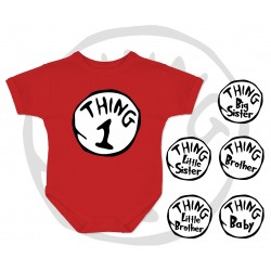 Thing 1 and Thing 2 Baby Onesie