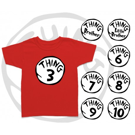 Thing 1 and Thing 2 Kids T Shirt d8e2124fb460