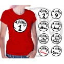 Thing 1 and Thing 2 Womens T-Shirt