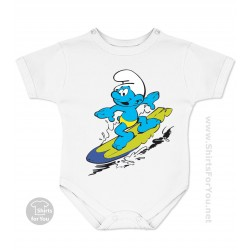 The Smurfs Surfer Smurf Baby Onesie