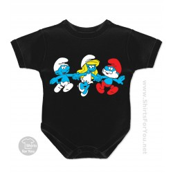 Clumsy, Smurfette and Papa Smurf The Smurfs Baby Onesie