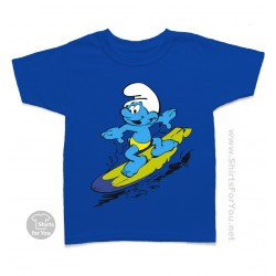 The Smurfs Surfer Smurf Kids T-Shirt