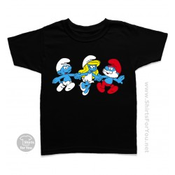 Clumsy, Smurfette and Papa Smurf The Smurfs Kids T-Shirt