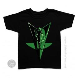 Green Arrow Bow Kids T Shirt