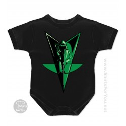 Green Arrow Bow Baby Onesie
