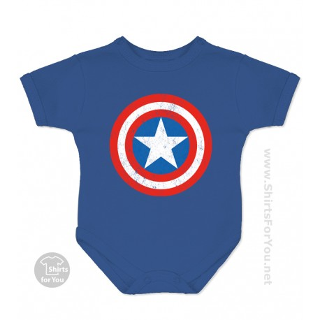 1758e67978ed Captain America Baby Onesie